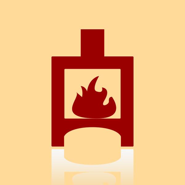 Fireplace Selun Seitenscheibe links oben außen